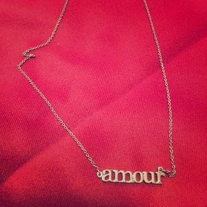 """Jewelry - Sterling silver """"amour"""" necklace"""